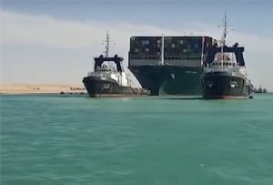 image: Suez, Canal, Egypt, Ever Given, Evergreen Marine, merchant, shipping, tugs, Smit, salvage, Covid-19, pandemic, TEU,