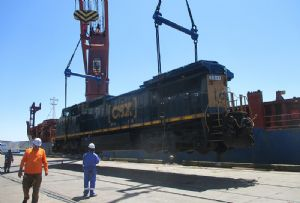 image: US, Peru, Dachser, locomotives, project, shipment, consignment, freight, forwarder, logistics,