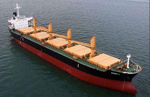 image: US Korea dry bulk freight vessel charter Supramax carrier