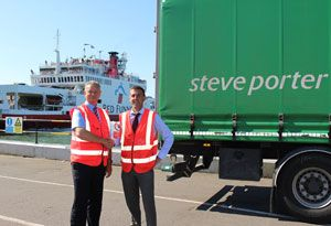 image: Isle of Wight UK road haulage haulier RoRo ferry operator trailer freight