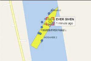 image: Egypt, Suez Canal, Panama, Evergreen, Marine, container, ship, vessel, Ever Given,