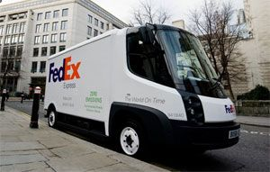 image: US FedEx less than truckload freight truck LTL depot