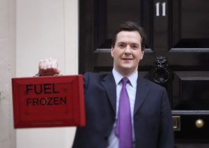 image: UK road haulage freight transport fuel duty Budget Chancellor