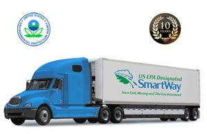 image: SmartWay environmental road haulage rail freight logistics EPA fuel efficiency