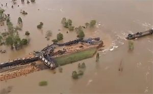 image: Australia rail freight disaster flood