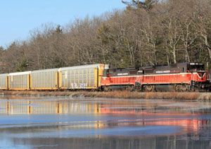 image: US intermodal rail freight Genesee & Wyoming Providence and Worcester Railroad Company
