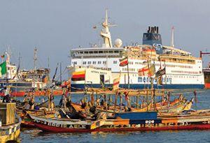 image: Benin Mercy Ships Stena Line freight ferry volunteers