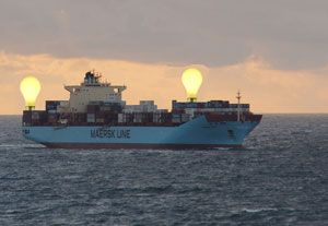 image: Philips Maersk container shipping line ocean supply chain Netherlands Denmark