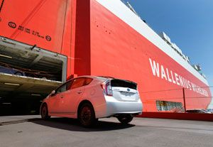 image: Toyota Japan America Wallenius Wilhelmsen Logistics freight RoRo carrier shipping line