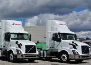 image: Volvo road haulage operators diagnostic truck Purolator