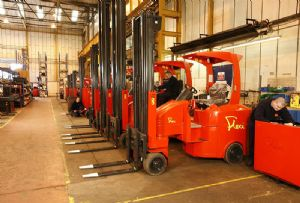 image: UK, Narrow Aisle, Flexi, fork lift, trucks, Lithium, LPG, John Maguire,
