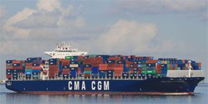 image: CMA CGM container shipping US Canada port