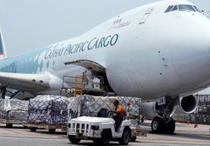 image: Cathay Pacific air freight carrier cargo airline