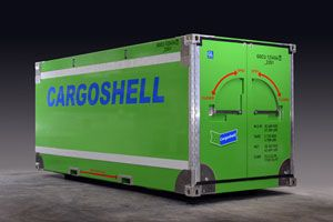 image: Europe container shipping freight box Cargoshell Samskip intermodal multimodal