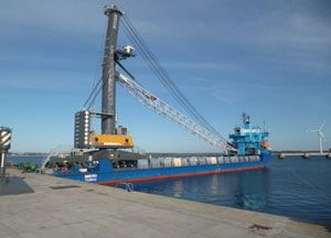 image: Liebherr project freight recycling environmental Able Seaton Port Liebherr mobile harbour crane