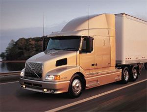 image: US Volvo truck shipping industry logistics