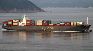 image: Australia container ship shipping line port Bushhehr Iran North Korea weapons munitions CMA CGM