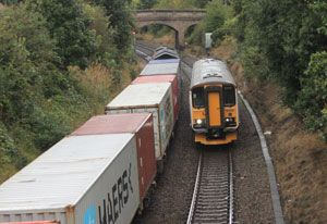 image: UK intermodal multimodal supply chain road haulage freight rail carriage green
