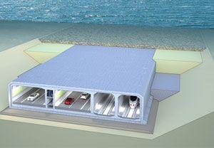 image: Germany Denmark Fehmarnbelt Fixed Link freight truck rail cargo undersea tunnel
