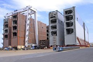 image: Panama Canal post Panamax container shipping bulk carrier miter gates