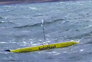 image: UK AutoNaut Seiche autonomous truck craft cargo ships drones vehicles