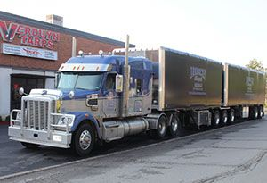 image: US Verduyn Tarps tarpaulin tractor trailer lengths trucker state laws MAP21 road haulage freight
