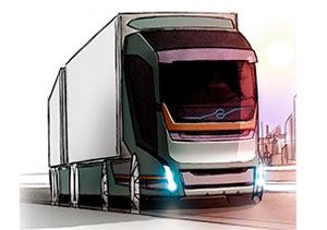 image: HGV UK Volvo design a truck of the future