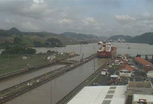 image: Panama Canal vessel El Ni�o drought draft reduces