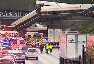 image: US positive train control PTC freight rail carrier passenger Amtrak crash wreck Union Pacific
