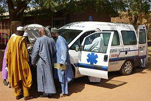 image: Nigeria freight logistics Transaid charity pregnant women taxi drivers