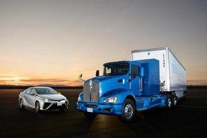 image: US Toyota truck maker hydrogen Elon Musk concept zero-emission HGV