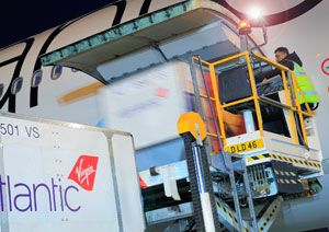 image: UK US FlightSafe Virgin Atlantic Cargo air freight logistics real time tracking
