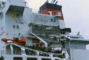 image: UK France Seafrontier bulk carrier tanker fuel petrol Dover Strait Huayang Endeavour Hong Kong