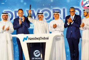 image: Dubai DP World port and Free Zone logistics stock exchange Nasdaq
