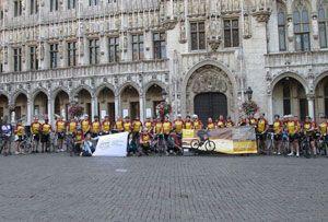 image: Transaid UK Brussels freight forwarding logistics road haulage charity bike ride