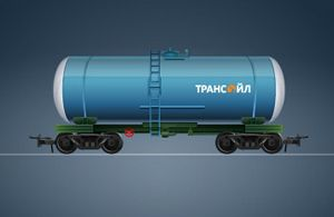 image: Russia Freight One cargo wagon