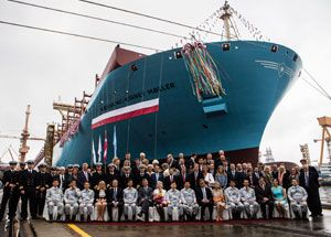image: MSC Oscar Maersk container freight shipping cargo TEU record
