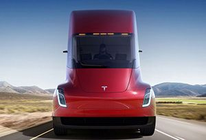 image: US Tesla Elon Musk heavy road haulage truck freight battery Nevada