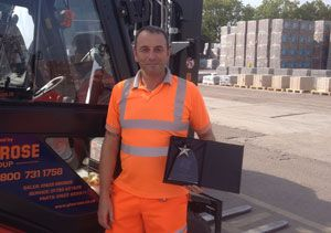 image: UK fork lift truck safety Briggs Equipment Association award