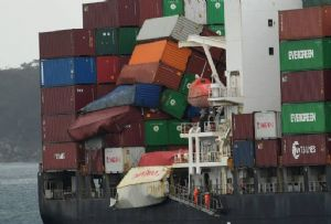 image: Australia container lashing multi-million dollar fine accident Yang Ming YM Efficiency Eternity box vessel