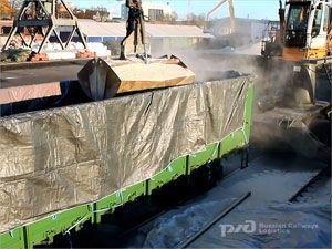 image: Russian Railways Logistics RZDL feldspar Finland ocean freight cargo shipping handling