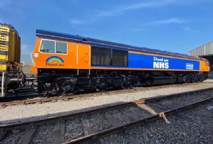 image: UK GB Railfreight locomotive Tom Moore Porterbrook leasing rolling stock