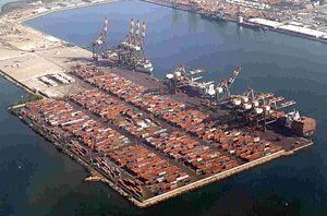 image: Caribbean CMA CGM container shipping terminal TEU freight Panama Canal