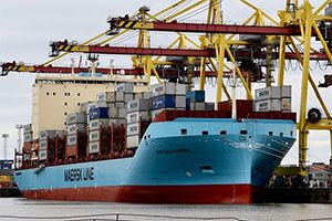 image: US Denmark ice class container ships autonomous vessels Maersk line Artificial Intelligence LiDAR