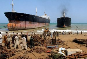 image: Shipbreaking Platform Alang tankers container ships dismantled scrap yards illegally