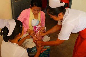 image: DHL freight logistics supply chain remote poor communities vaccine Gavi