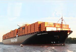 image: Hapag Lloyd container shipping line freight rate slump profit Agility 3PL logistics