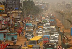 image: India China commercial vehicle truck diesel lorry emissions pollution
