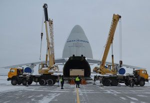 image: Russia China shipment project freight cargo tonne Volga An-124-100