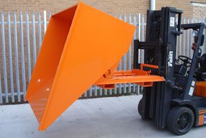 image: UK roll on roll off skip waste freight logistics safety pallets
